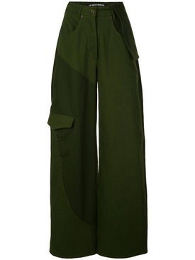 Jacquemus - Green Wide Leg Jeans - Women