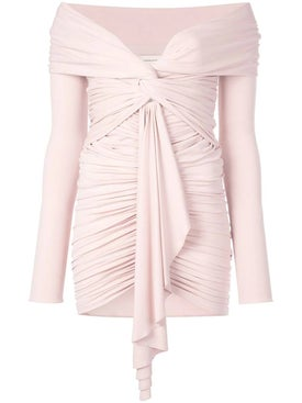 Alexandre Vauthier - Ruched Off-the-shoulder Dress Powder - Women