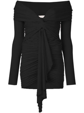 Alexandre Vauthier - Ruched Off-the-shoulder Dress Black - Women