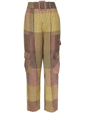 Rosie Assoulin - Patchwork Check Cargo Trousers - Women