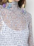 Rosie Assoulin - Lace Check Knit Turtleneck Top - Women