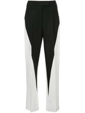 Haider Ackermann - Black And White Wide Leg Trousers - Women