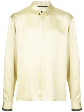 Haider Ackermann - Yellow Contrast Cuff Shirt - Men