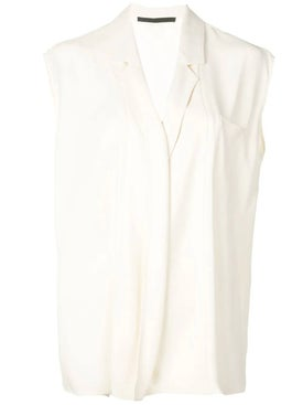 Haider Ackermann - Cream Cap Sleeve Blouse - Women
