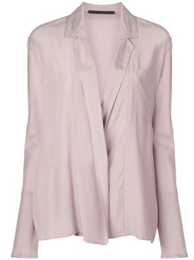 Haider Ackermann - Silk Draped Light Purple Blouse - Women
