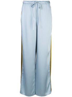 Haider Ackermann - Blue Stripe Panel Pants - Women
