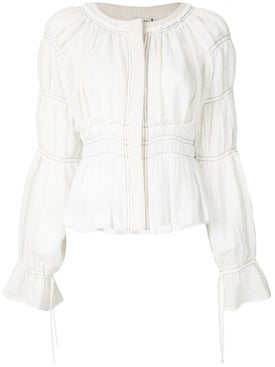 Altuzarra - Tiered Sleeve Cropped Jacket White - Women