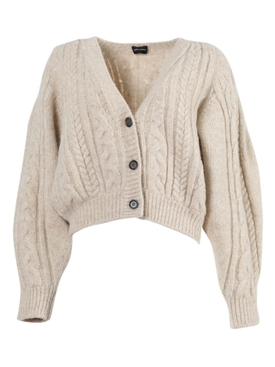 Magda Butrym - Albion Beige Cropped Cardigan Sweater - Women