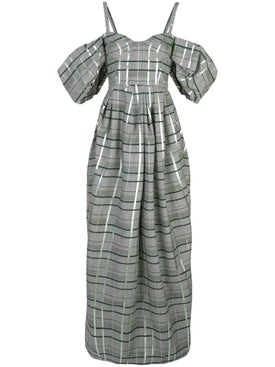 Rosie Assoulin - Off-shoulder Check Gown - Women