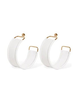 Jacquemus - Les Fauteuils White Leather Earrings - Women