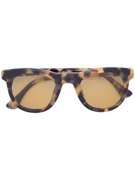 Linda Farrow - Dries Van Noten X Linda Farrow Tortoiseshell Print Square Sunglasses - Women