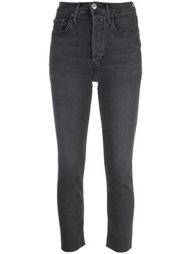 Re/done - Dusty Charcoal Cropped Skinny Jean - Women
