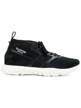 mesh webbed sneakers BLACK