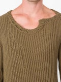 Faith Connexion - Destroyed Cotton-blend Sweater - Men