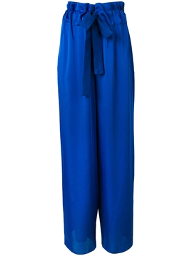 high-waist flared trousers