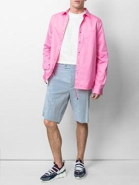 Moncler - Striped Knee Length Shorts - Men
