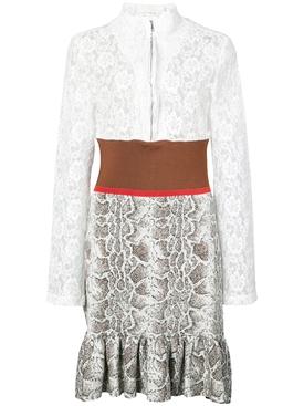 lace patterned dress