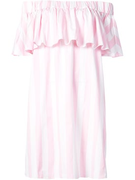 Maison Rabih Kayrouz - Off The Shoulder Woven Dress Pink - Women