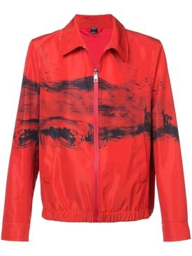 abstract print jacket