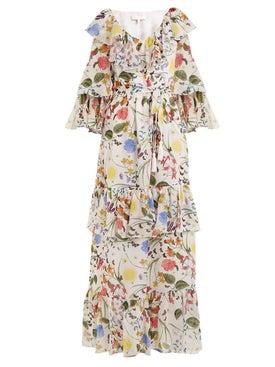 Borgo De Nor - Margaux Garden-print Silk Dress - Women
