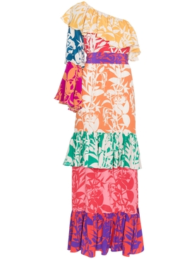 Penelope Floral Print Silk Dress MULTICOLOR