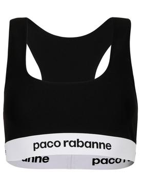Branded racerback sports bra