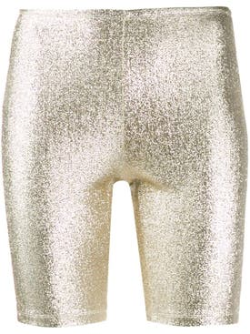 Paco Rabanne - Silver Gold Cyling Shorts - Women