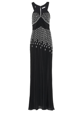 Paco Rabanne - Black Embellished Silk-blend Gown - Women