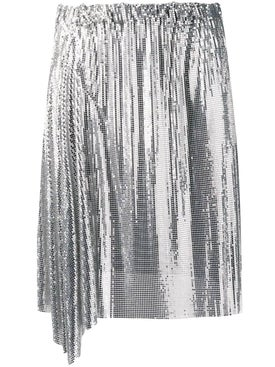 Paco Rabanne - Silver Draped Mini Skirt - Women
