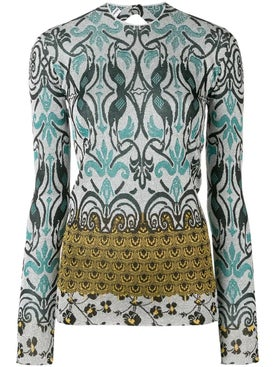 Paco Rabanne - Printed Long Sleeve Top - Women