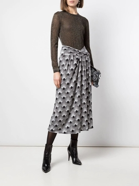 Black and white print jupe skirt