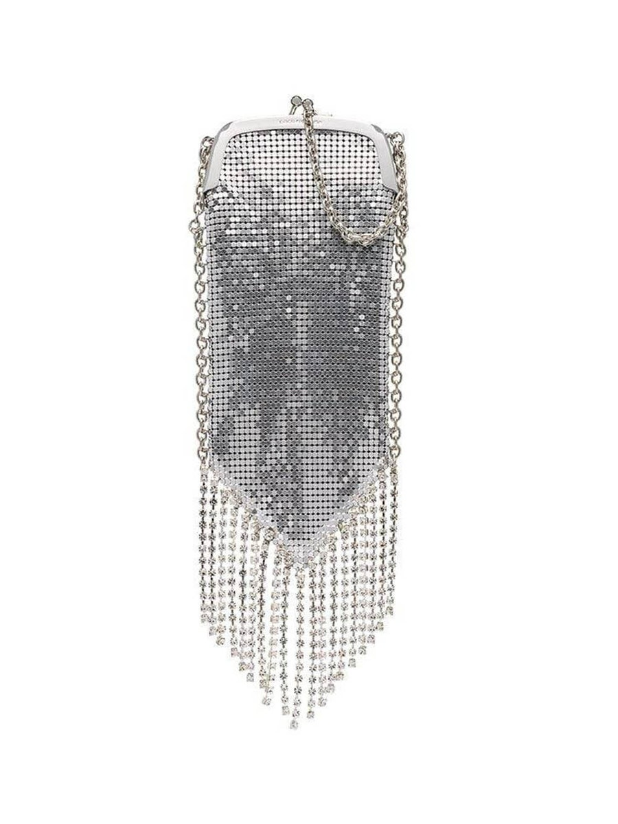 Paco Rabanne Shoulder Pampilles fringed chainmail shoulder bag