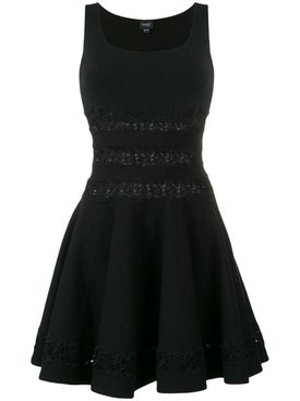 Giambattista Valli - Floral Embroidered Mini Dress Black - Women