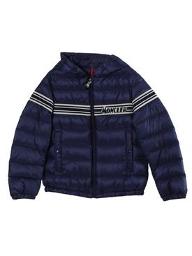 Kids Navy Renald Logo Puffer Jacket