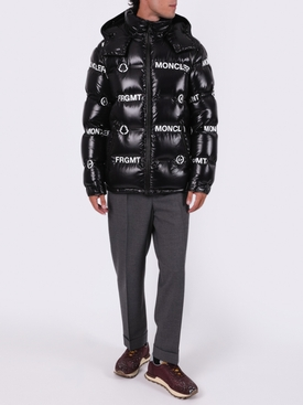 7 MONCLER FRAGMENT HIROSHI FUJIWARA BLACK MAYCONNE BOMBER JACKET