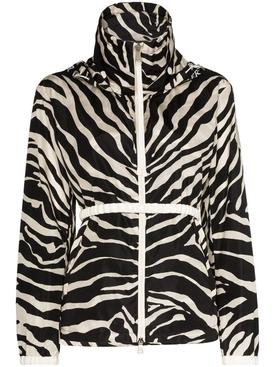 zebra print track jacket