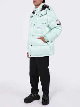 7 MONCLER FRAGMENT HIROSHI FUJIWARA GREEN ANTHEMY BOMBER JACKET