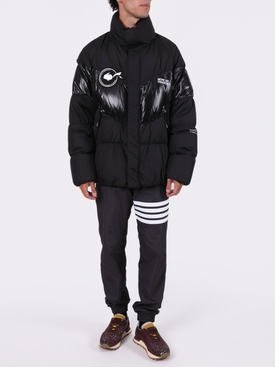 7 MONCLER FRAGMENT HIROSHI FUJIWARA BLACK BLAIN JACKET