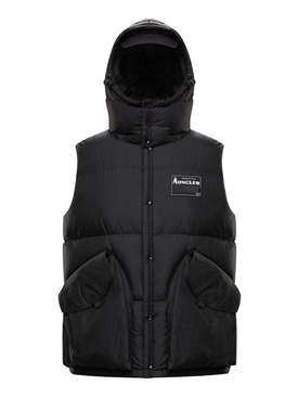 7 MONCLER FRAGMENT HIROSHI FUJIWARA BLACK KYLE VEST