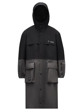 7 Moncler FRGMT Hiroshi Fujwara Nembus Long Coat Black and Grey