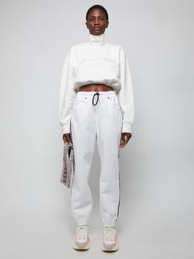 CROPPED MOCKNECK SWEATSHIRT, White