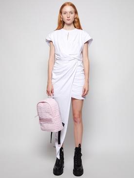 draped asymmetric tee dress white
