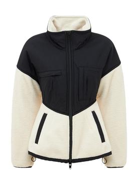 Sculpted Drop Shoulder Jacket With Nylon Combo VINTAGE WHITE