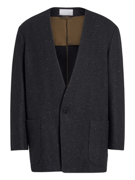 FEAROFGODZEGNA black One button jacket