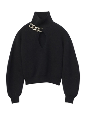 Black turtle neck pullover knit