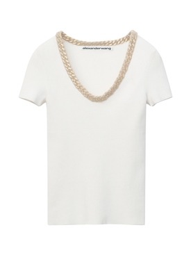 Chain Neckline T-shirt