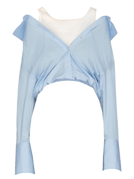 Shrugged off blouse LIGHT BLUE