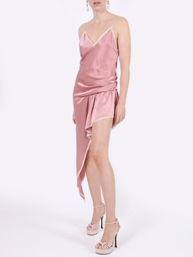 Asymmetric Cami slip dress BLUSH