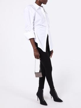 White oversized cinched waist shirt