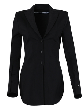 Black fitted shirt jacket